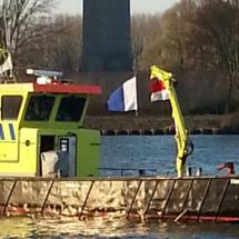De Haaften regeld de scheepvaart bij duikwerkzaamheden
